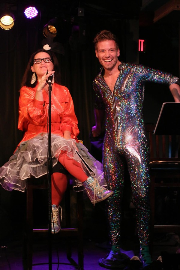 Mary Birdsong enjoys Barrett Foa''s ''big reveal'' -- who knew he was hiding that glittery unitard under his clothes?!