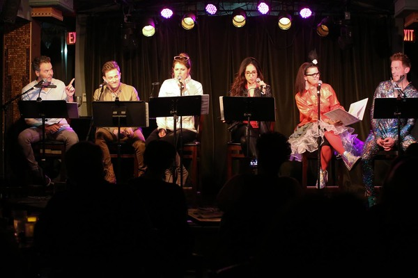 The February 29 cast of Villain: DeBlanks SPACE HOLE! Greg Ainsworth, Tom Lenk, Nicole Parker, Gabrielle Ruiz, Mary Birdsong & Barrett Foa.