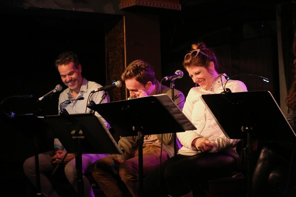 Greg Ainsworth, Tom Lenk & Nicole Parker enjoying the shenanigans. Photo