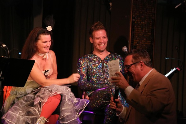 Mary Birdsong & Barrett Foa answer questions from the special media guest Tom Perumea Photo