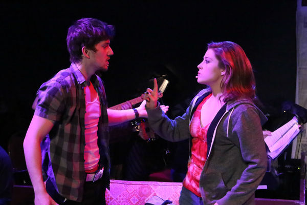 Brendan Ochs as Will and Larissa White as Heather Photo