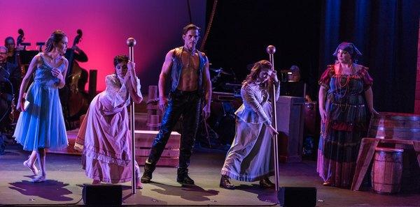 Miranda Rose (Louise), Jonathan Sharp (Carnival Boy) and the ensemble of CAROUSEL in concert