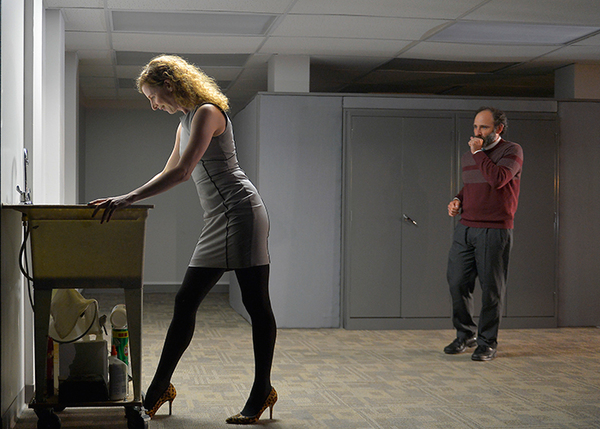 Farrah (Jessica Bates) and Yuri (Brian Herndon) on a mysterious adventure on the 7th floor.