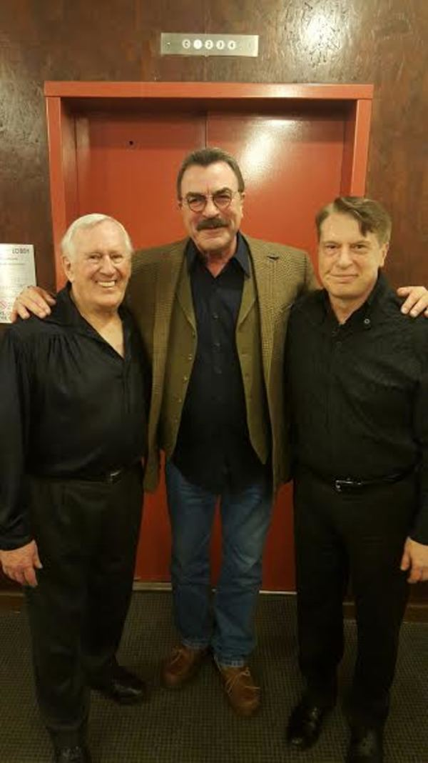 Len Cariou, Tom Selleck, and Mark Janas