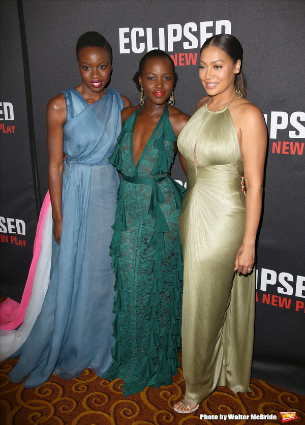 Danai Gurira, Lupita Nyong'o and La La Anthony  Photo