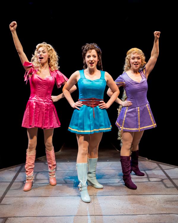 Samantha Pauly as ''Sleeping Beauty,'' Dara Cameron as ''Cinderella,'' and Laura Sava Photo
