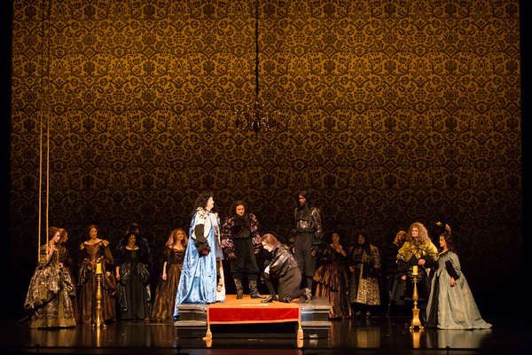 Sofia Selowsky as Nell Gwynn, Megan Mikailovna Samarin as Lady Meresvale, Chad Shelto Photo