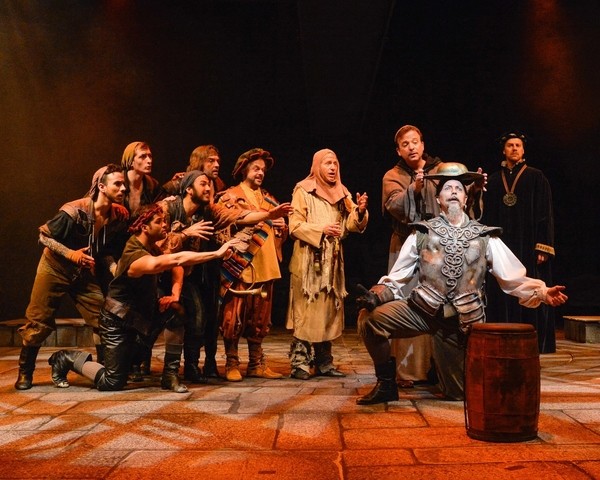 Paul Schoeffler (Don Quixote) and ensemble in ''The Golden Helmet Of Mambrino.''