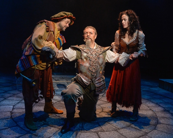 Gary Marachek as Sancho, Michelle Dawson as Aldonza, Paul Schoeffler as Don Quixote