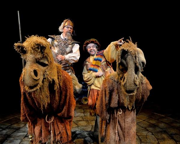 Paul Schoeffler as Don Quixote  and Gary Marachek as Sancho