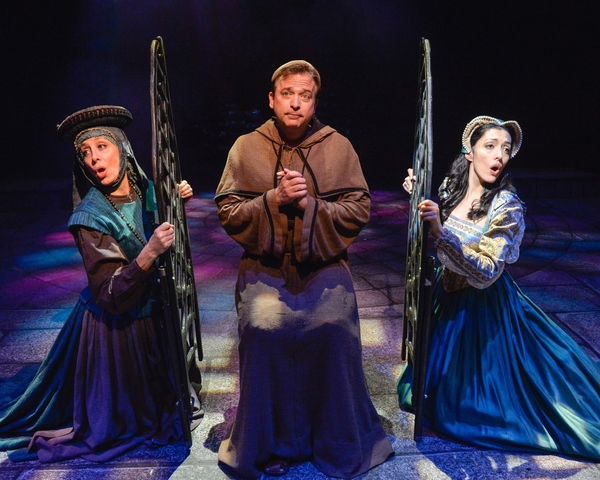 Joanne Borts (Housekeeper), Alan M-L Wager (the Padre) and Sarah Hanlon (Antonia) perform ''I''m only Thinking Of Him.''