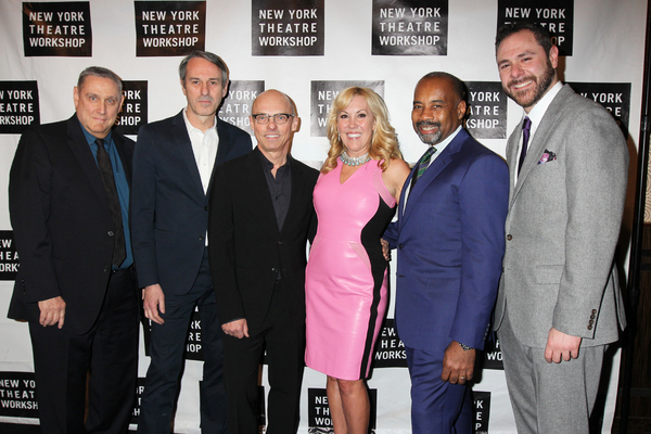 Honorees Ivo van Hove, Jan Versweyveld, Heather Randall and Noel E.D. Kirnon with NYTW Artistic  James Nicola and Managing  Jeremy Blocker