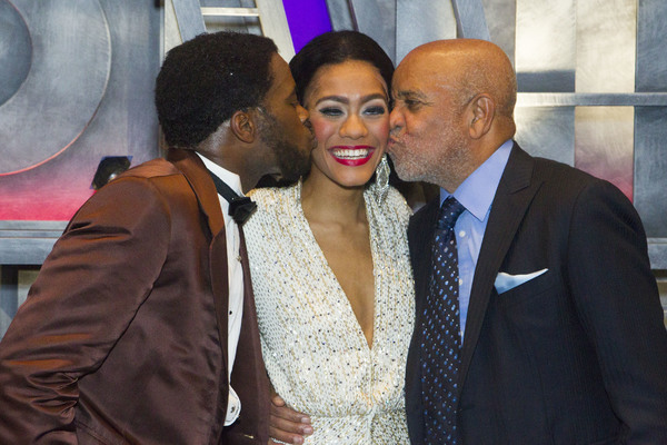 Cedric Neal (Berry Gordy), Lucy St Louis (Diana Ross) and Berry Gordy (Producer/Music/Lyrics) backstage