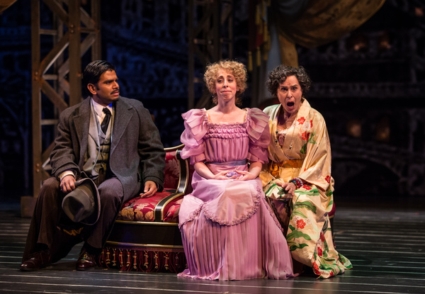 Ronobir Lahiri (Ambrose Kemper), Theo Allyn (Ermengarde) and Marilyn Dodds Frank (Flora Van Huysen)