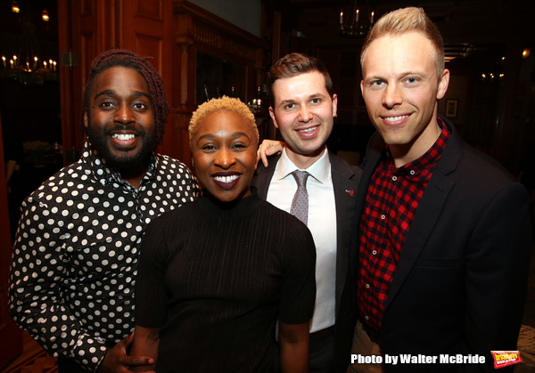 Mykal Kilgore, Cynthia Erivo, Seth Cotterman and Justin Paul