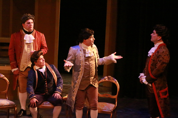 Ron Mackley as Count Von Strack, Nelsen Spickard as Salieri, Luke Walker as Mozart, R Photo