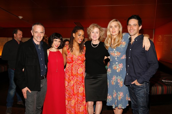 Neel Keller, playwright Sheila Callaghan and Dinora Z. Walcott, Lisa Banes, Nora Kirkpatrick and David Clayton Rogers