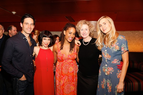 David Clayton Rogers, playwright Sheila Callaghan and Dinora Z. Walcott, Lisa Banes and Nora Kirkpatrick