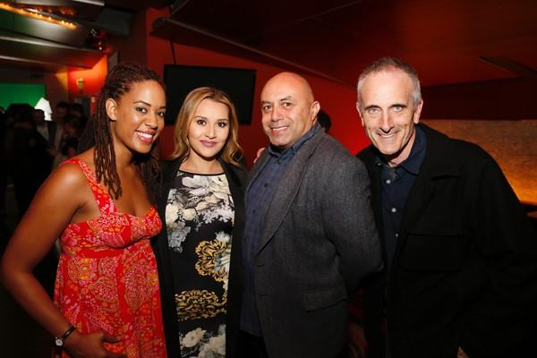 Cast member Dinora Z. Walcott, Samantha Siguenza, actor Herbert Siguenza and director Neel Keller