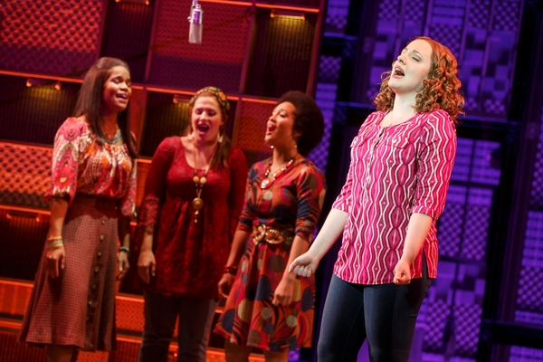 Abby Mueller (foreground, Carole King); (background) Britney Coleman, Sarah Bockel and Ashley Blanchet