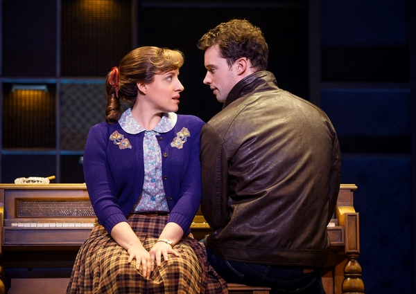 Abby Mueller (Carole King) and Liam Tobin (Gerry Goffin)