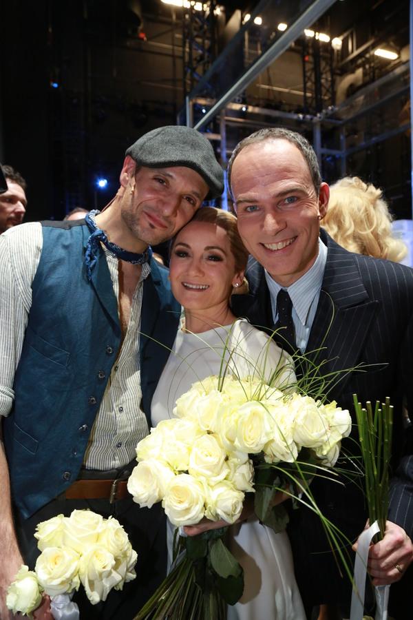 Drew Sarich, Katharine Mehrling und Thomas Borchert Photo