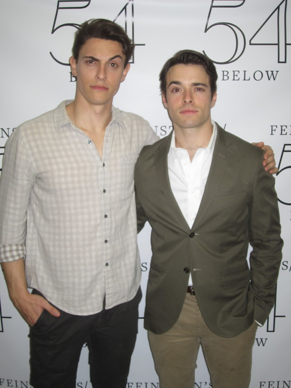 Guest Princes Derek Klena and Corey Cott strike a pose