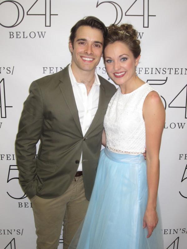 Corey Cott and Laura Osnes