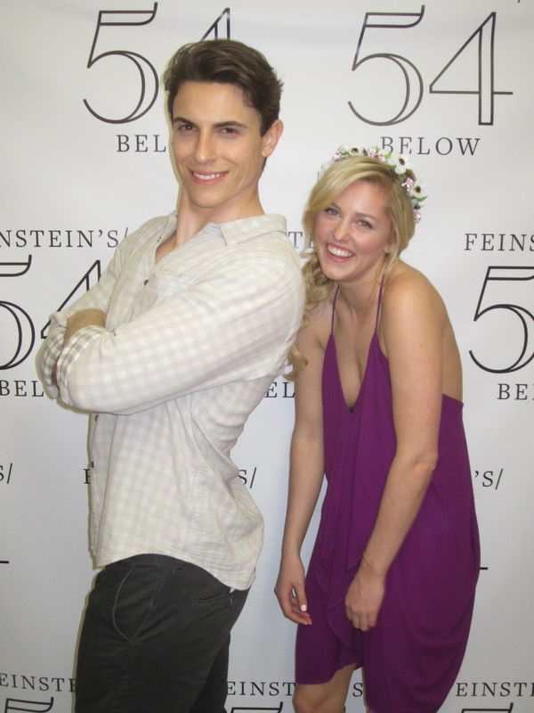 Derek Klena as 'Flynn Rider' and Taylor Louderman as 'Rapunzel'
