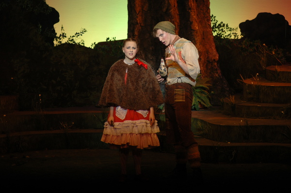Gia Welch plays Little Red Ridinghood to Cody Rutledge as Jack (of the Beanstalk stor Photo