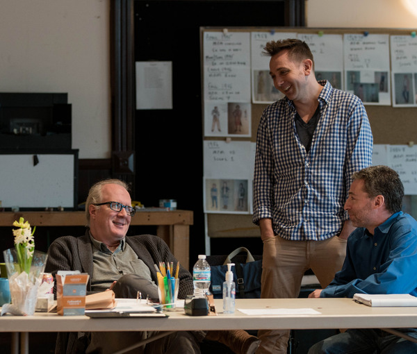 Playwright Tracy Letts, Artistic Producer Jonathan Berry and Dramaturg Ed Sobel