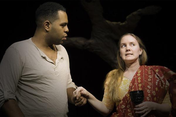 Robert Gray as Theseus and Krista Coleman as Hippolyta.