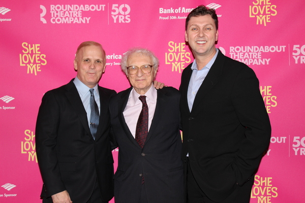 Scott Ellis, Sheldon Harnick and Warren Carlyle