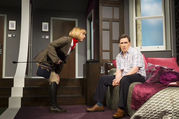 Claudie Blakley and Rob Brydon