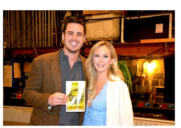 Ben Higgins and Lauren Bushnell attend The Lion King