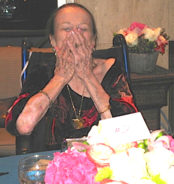 Legend and Icon, Patricia Morison, overwhelmed with joy