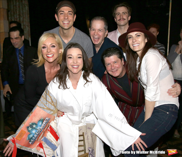 Cameron Adams with Jane Krakowski, Zachary Levi, Peter Bartlett, Cavin Creel,  Michael McGrath and Laura Benanti