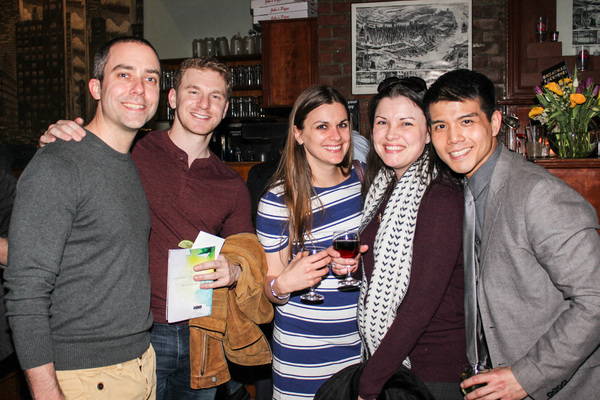 James Babcock, Adam Overett, Katherine O'Sullivan, Sharon Burde and Telly Leung