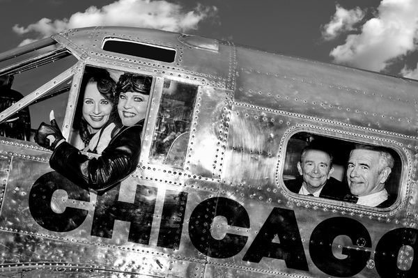 The original stars of CHICAGO - Tony Award winners Bebe Neuwirth (original Velma Kelly), Ann Reinking (original Roxie Hart & choreographer), Joel Grey (original Amos Hart), James Naughton (original Billy Flynn)