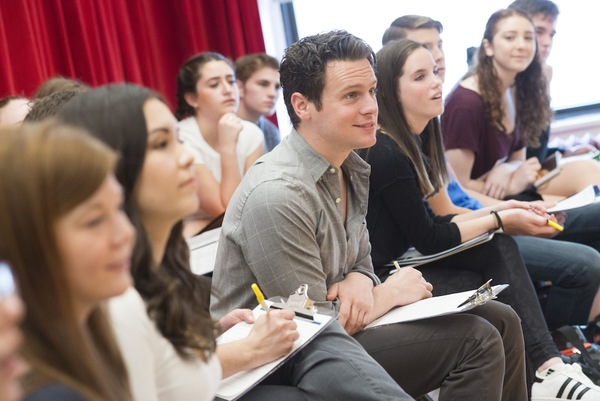 Jonathan Groff and Broadway Workshop Students