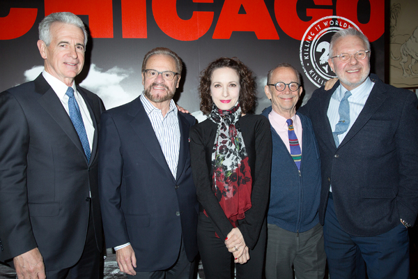 James Naughton, Barry Weissler, Bebe Neuwirth, Joel Grey, Walter Bobbie