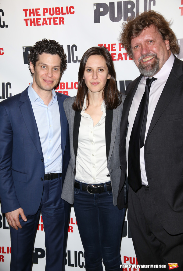 Thomas Kail, Sarah Burgess and Oskar Eustis