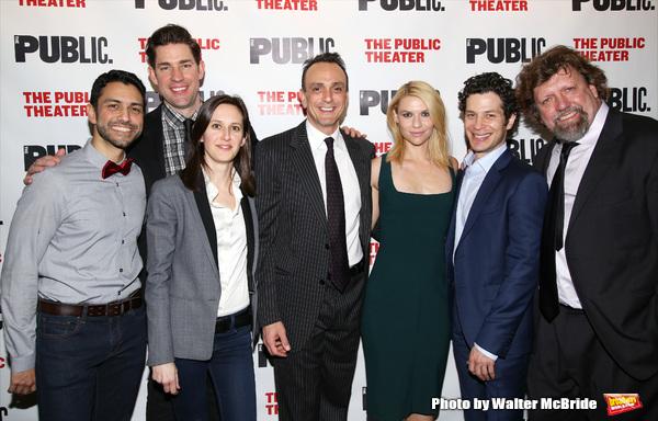 Sanjit De Silva, John Krasinski, Sarah Burgess, Hank Azaria, Claire Danes,  Thomas Kail and Public Theater artistic  Oskar Eustis