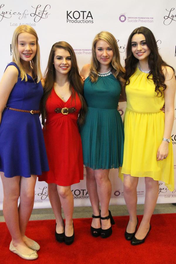 Abbey Thomas, Lindsay Ryan, Maddie Roberto, and Sheena Zamani