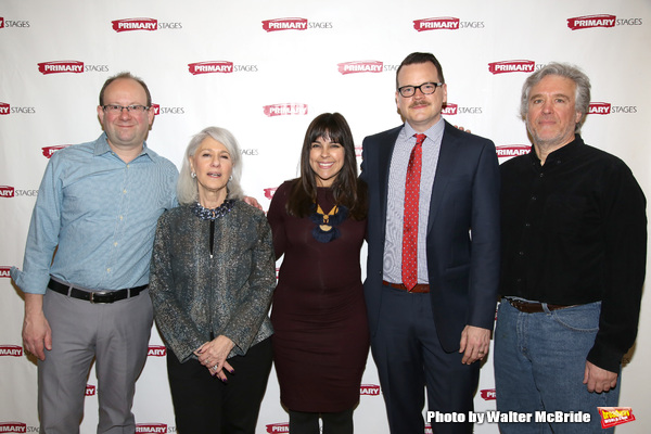The Primary Stages producing team: artistic director Andrew Leynse, producer Jamie deRoy, associate artistic director Michelle Bossy, executive director Shane D. Hudson, and executive producer Casey Childs