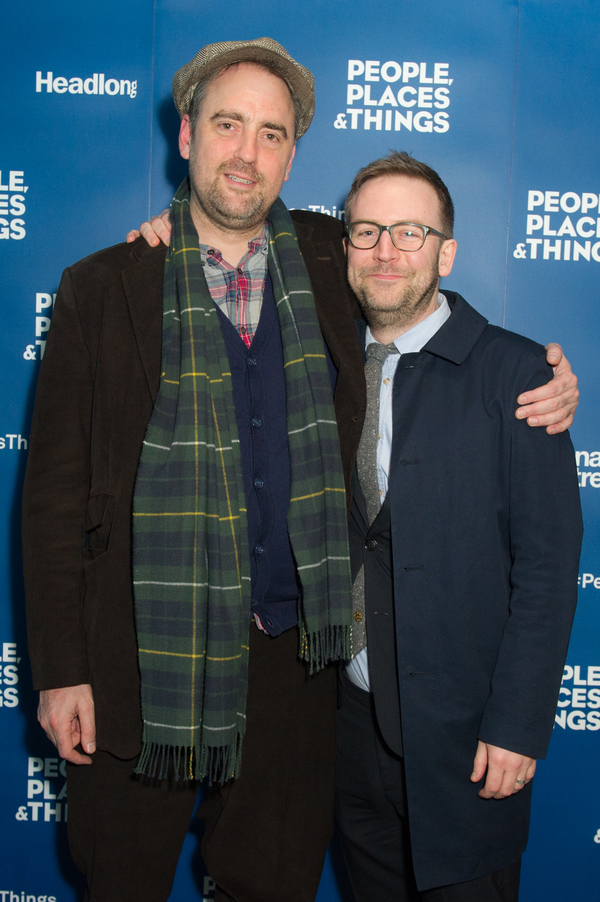 Jeremy Herrin and playwright Duncan MacMillan