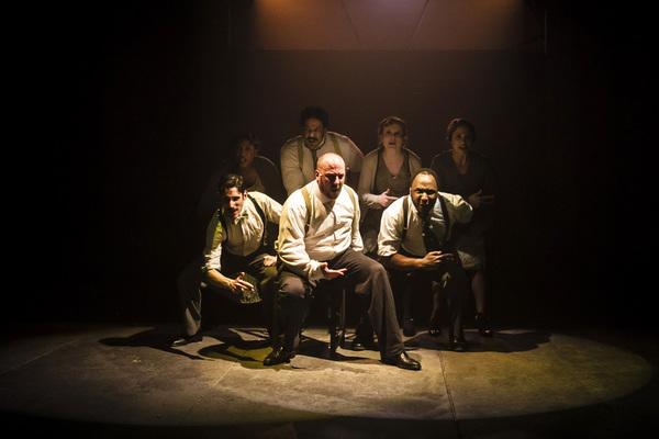 John Taflan, Patrick Du Laney and Bear Bellinger with (back) Tyler Brown, Jonah D. Winston, Laura McClain and Kelli Harrington