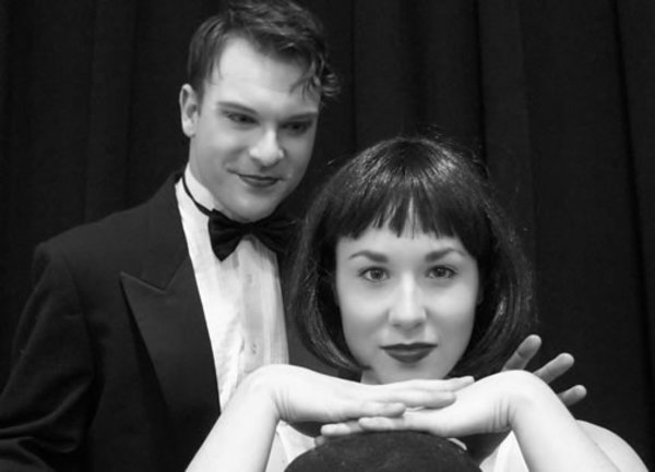 David Geinosky (The Emcee) and Laura Sportiello (Sally Bowles)