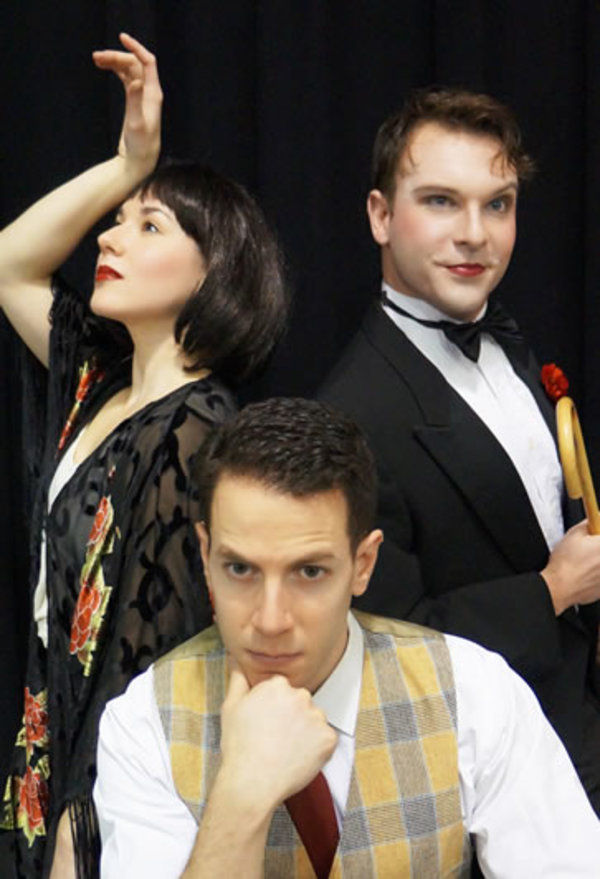 Laura Sportiello (Sally Bowles), Dan Gold (Cliff Bradshaw) and David Geinosky (The Emcee)