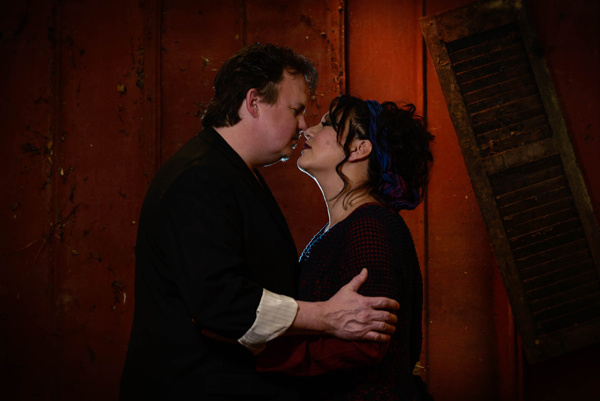 Russell Sunday as Sweeney Todd and Janine Sunday as Mrs. Lovett